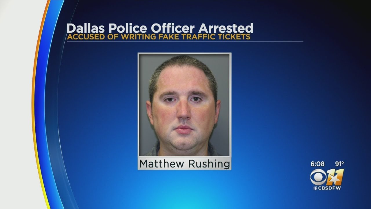 Dallas KKKop Arrested For Writing Fake Tickets