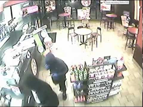 On 08/05/14 approximately 5:25 a.m., three masked suspects with handguns enter a Dunkin Donuts located at 680 Central Park Avenue.  The suspects rapidly entered the business, go directly behind the counter, and remove U.S. currency from the register.