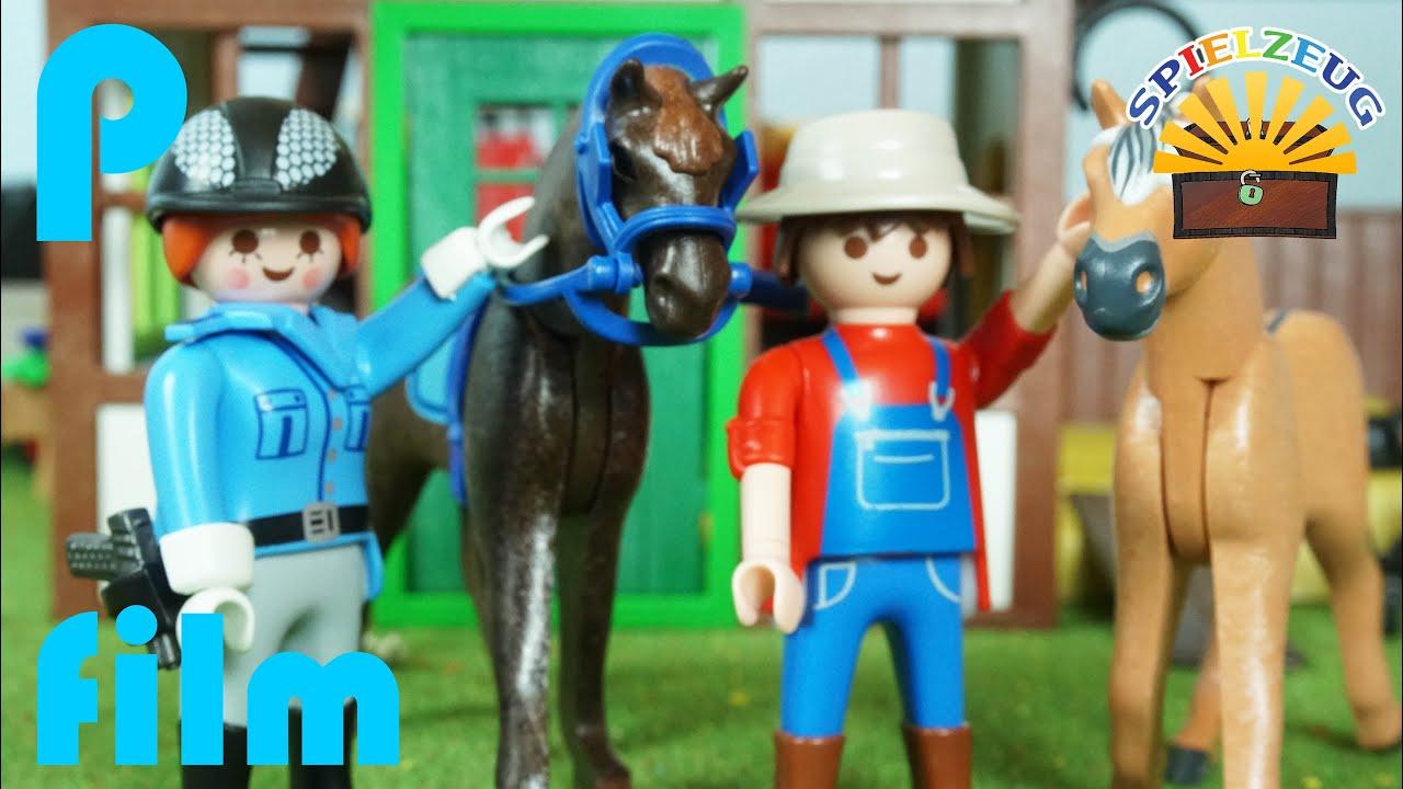 Gro er ausritt mit honig und neuem pferd - Pferde playmobil ...