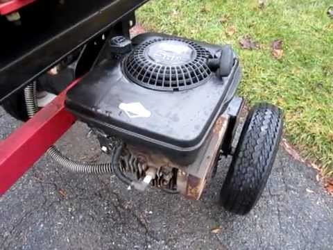 5hp briggs and stratton wood splitter engine youtube for How to get motor oil out of wood