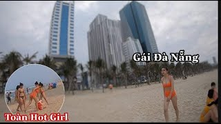 Choáng Ngợp Trước Dàn Hot Girl ở Biển Mỹ Khê Đà Nẵng - Long Nhong Channel