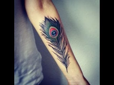 95d8688f58001 peacock feather tattoo designs - YouTube