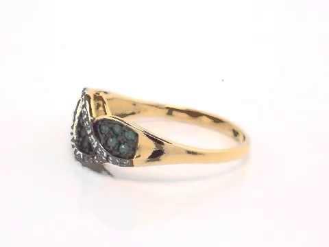 Кольцо из золота с изумрудом и брилл. Пейто ИК1007