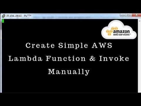 Create Simple AWS Lambda Function & Invoke Manually thumbnail