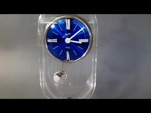VINTAGE SCHMIDT 8 DAY BLUE DIAL WEST GERMANY MANTLE DESK CLOCK