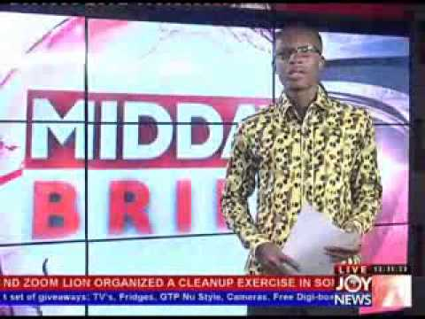 Ghana Midday News on Joy (20-5-13) : Small Mining Sector, Filth in town, Shooting in Kumasi