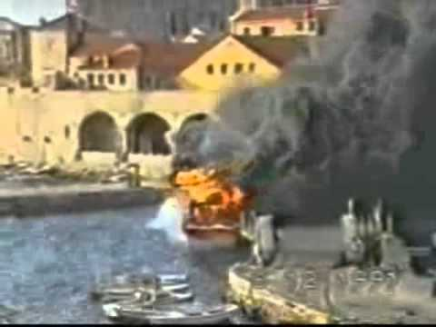 Invasion of Croatia & Serbian destruction of Dubrovnik - The