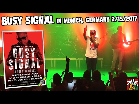 Busy Signal - Dreams of Brighter Days / Free Up in Munich, Germany @ Backstage [2/15/2017]