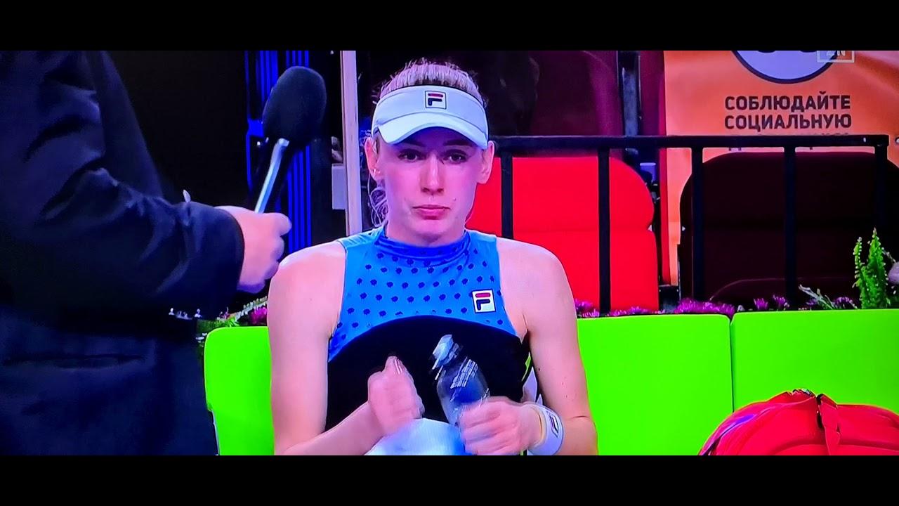 Download Ekaterina Alexandrova vs Maria Sakkari. Kremlin Cup 2021. Sakkari retired by injury 😔
