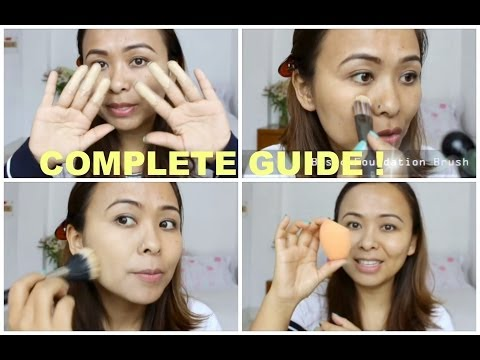 How To Apply Liquid Foundation: Fingers, Brushes and Sponge   Complete Demo   TiTi's Corner