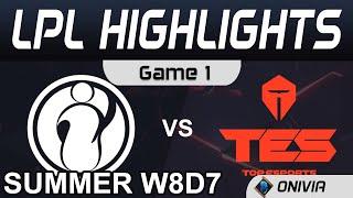 IG vs TES Highlights Game 1 LPL Summer Season 2020 W8D7 Invictus Gaming vs Top Esports by Onivia
