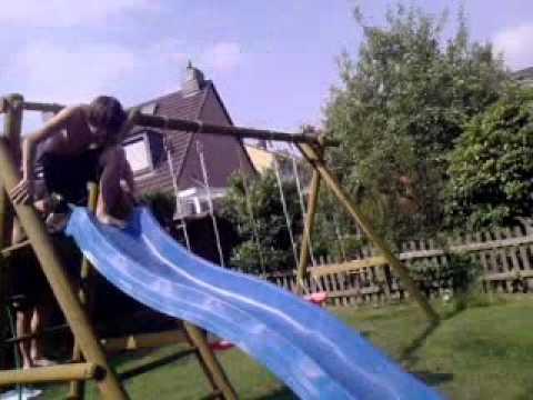 Wasserrutsche Xdexterm Im Garten Youtube