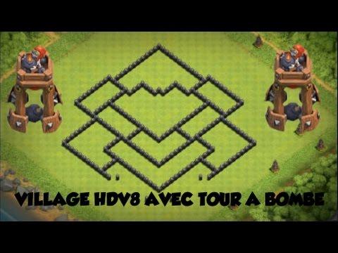 COC Village Hdv8 AVEC TOUR A BOMBE ! ►Mise à jour fin 2016