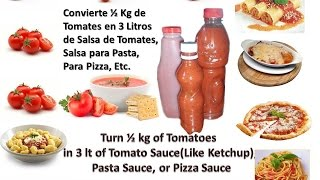 How to make Homemade Ketchup/Salsa Tomate Casera(1/2 kilo tomates rinde 3Lt)Pizza,pasta,papas DIY Thumbnail