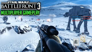 Star Wars Battlefront Multiplayer Gameplay – Vader, ATAT, ATST, X-Wing, Rebel, Imperial, Sniper+