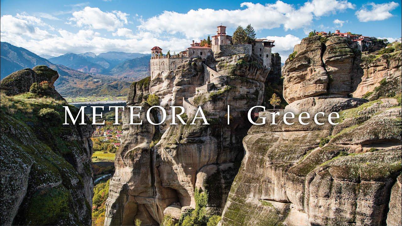 【ギリシャの絶景】世界遺産メテオラ 断崖絶壁の修道院群 | 絶景4Kドローン