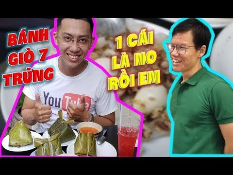 Funny Hùng Thử Thách 4 Cái Bánh Giò 7 Trứng Khổng Lồ Và Cái Kết.