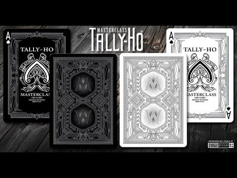 [808 MAGIC]魔術道具 Tally Ho Master Class Playing Cards White