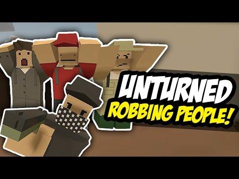 ROBBING PEOPLE - Unturned RP (Bandit Roleplay)