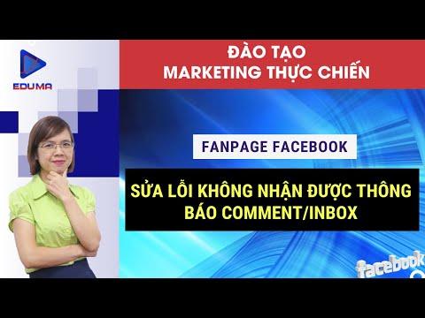 Hướng dẫn sửa lỗi không nhận được thông báo comment|inbox trên Fanpage Facebook [Eduma/Facebook]