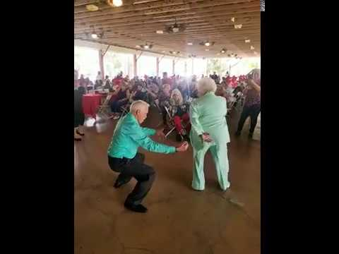 Senior Couple Dances to Reggae Music – 1030032