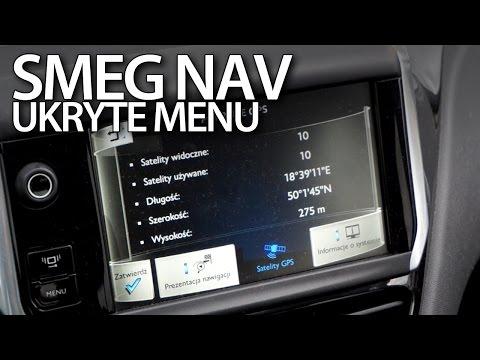 Ukryte menu nawigacji SMEG Peugeot Citroen