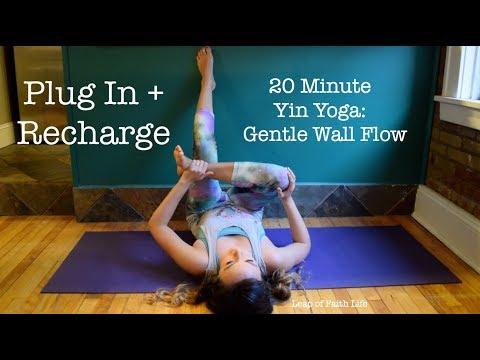 20 Min Yin Yoga: Gentle Wall Flow - Plug In + Recharge