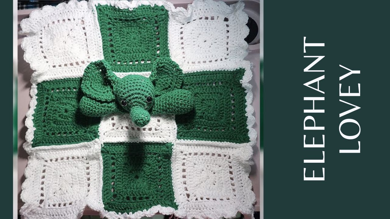 Elephant Crocheted Snuggle Blanket [FREE Crochet Pattern] | 720x1280
