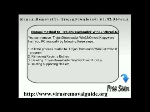 Remove TrojanDownloader:Win32/Obvod.K - Automatic Removal Tool - YouTube