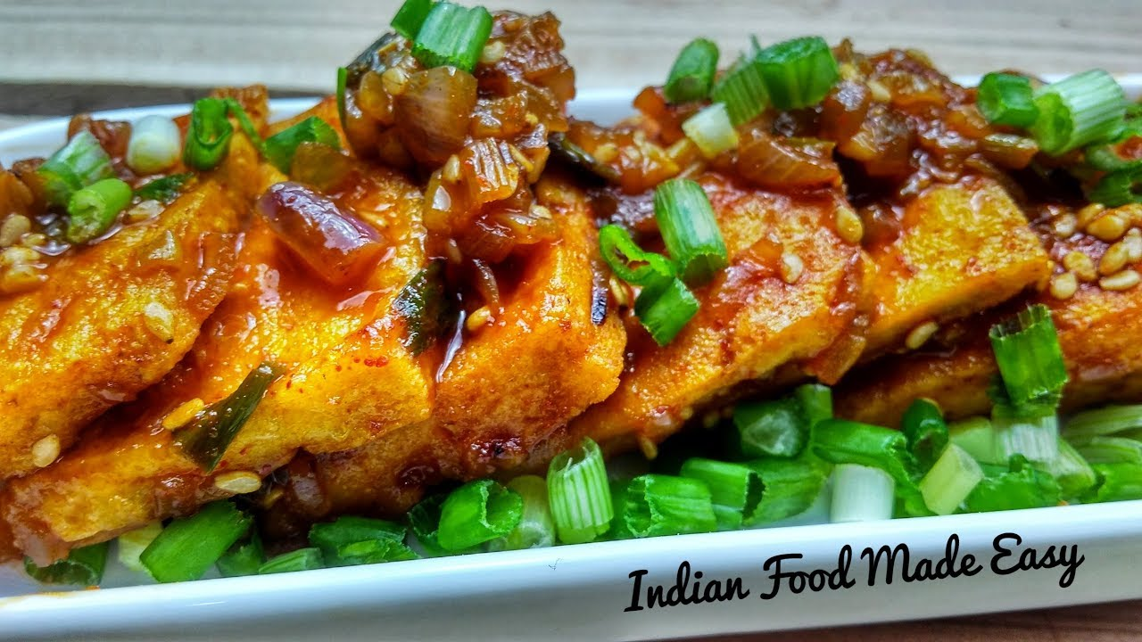 Spicy tofu recipe by indian food made easy tofu paneer recipe in spicy tofu recipe by indian food made easy tofu paneer recipe in hindi burmese tofu salad recipe forumfinder Image collections