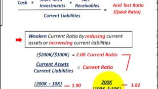 Current Liabilities Accounting (Current Ratio, Acid Test Ratio or Quick Ratio, Measuring Liquidity)