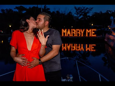 MARRY ME JOSE Y PAOLA DESDE THE YATCH EXPERIENCES