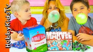 Best BIGGEST Bubble Gum! Bubblegum Kit Surprise HobbyPig + HobbyFrog DIY HobbyKidsTV