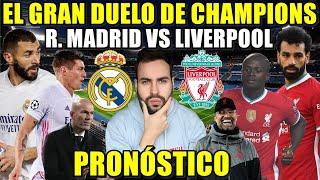 ⚽️PREVIA REAL MADRID VS LIVERPOOL - ¡GRAN DUELO de CHAMPIONS! ALINEACIONES y PRONÓSTICO -VARANE BAJA