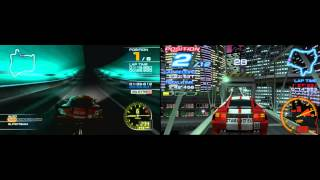 Ridge Racer 7 (PS3) Vs Ridge Racer 2 (PPSSPP) - Rave City