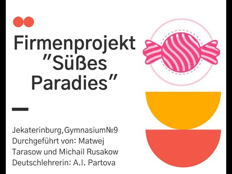 """Übungsprojekt """"Süßes Paradies"""""""