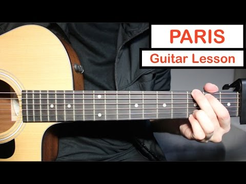 PARIS - The Chainsmokers | Guitar Lesson (Tutorial) How to play Chords