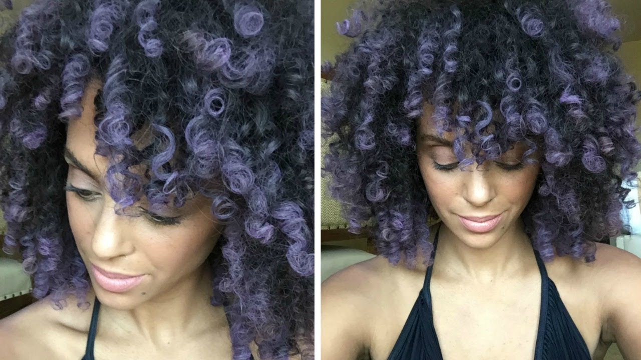 Temporary Hair Color On Curly Hair Splat Hair Chalk Discocurlstv