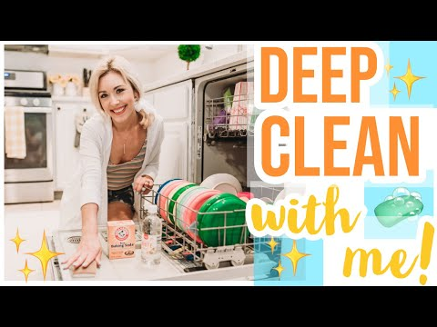 CLEAN WITH ME 2019 🧼| HOW TO DEEP CLEAN YOUR DISHWASHER NATURALLY! Brianna K