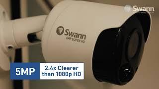 Swann 5MP SWDVK-849804D inc 8Ch DVR-4980 2TB HDD & 4x 5MP True Detect Dome Cams video