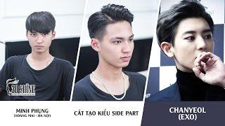 Cắt tạo kiểu Side Part | Phong cách Chanyeol (EXO) | Minh Phụng