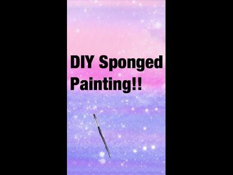diy-sponge-painting!
