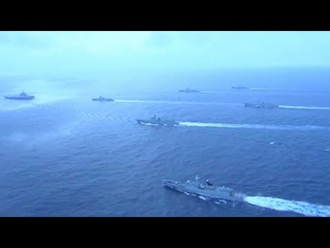 Chinese Navy aircraft carrier fleet carries out exercises in Western Pacific