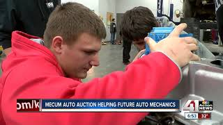 Mecum car auction helps future auto mechanics