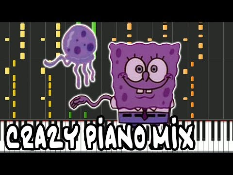 Crazy Piano Mix! STADIUM RAVE (SpongeBob SquarePants) Jellyfish Jam