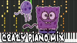 Crazy Piano Mix! Stadium Rave  Spongebob Squarepants  Jellyfish Jam