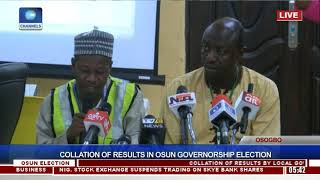 Collation Of Results In Osun Governorship Election Pt.15  Osun Decides 