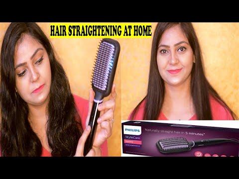 how-to-straighten-hair-at-home-in-5-minute-:-philips-heated-straightening-brush-:-alka-stylediva