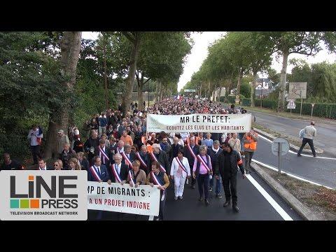 Nouvelle mobilisation anti-migrants en Yvelines / Louveciennes (78) - France 02 octobre 2016