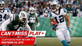 Kaelin Clay Makes 'em Miss w/ Sick Spin Move on 60-Yd Punt Return TD! | Can't-Miss Play | NFL Wk 12